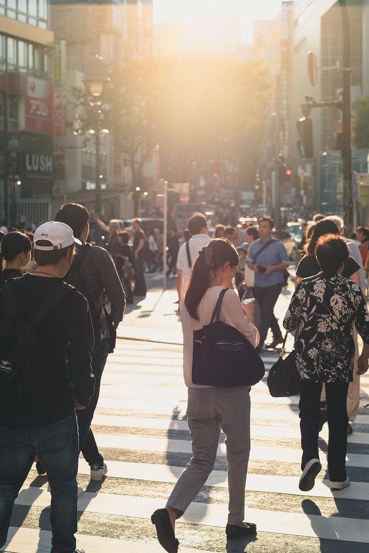 people walking in Tokyo