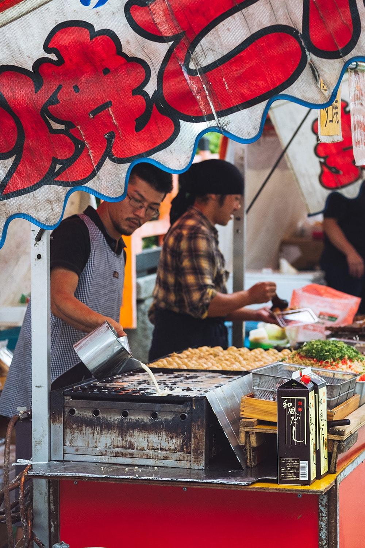 food stalls in Japan