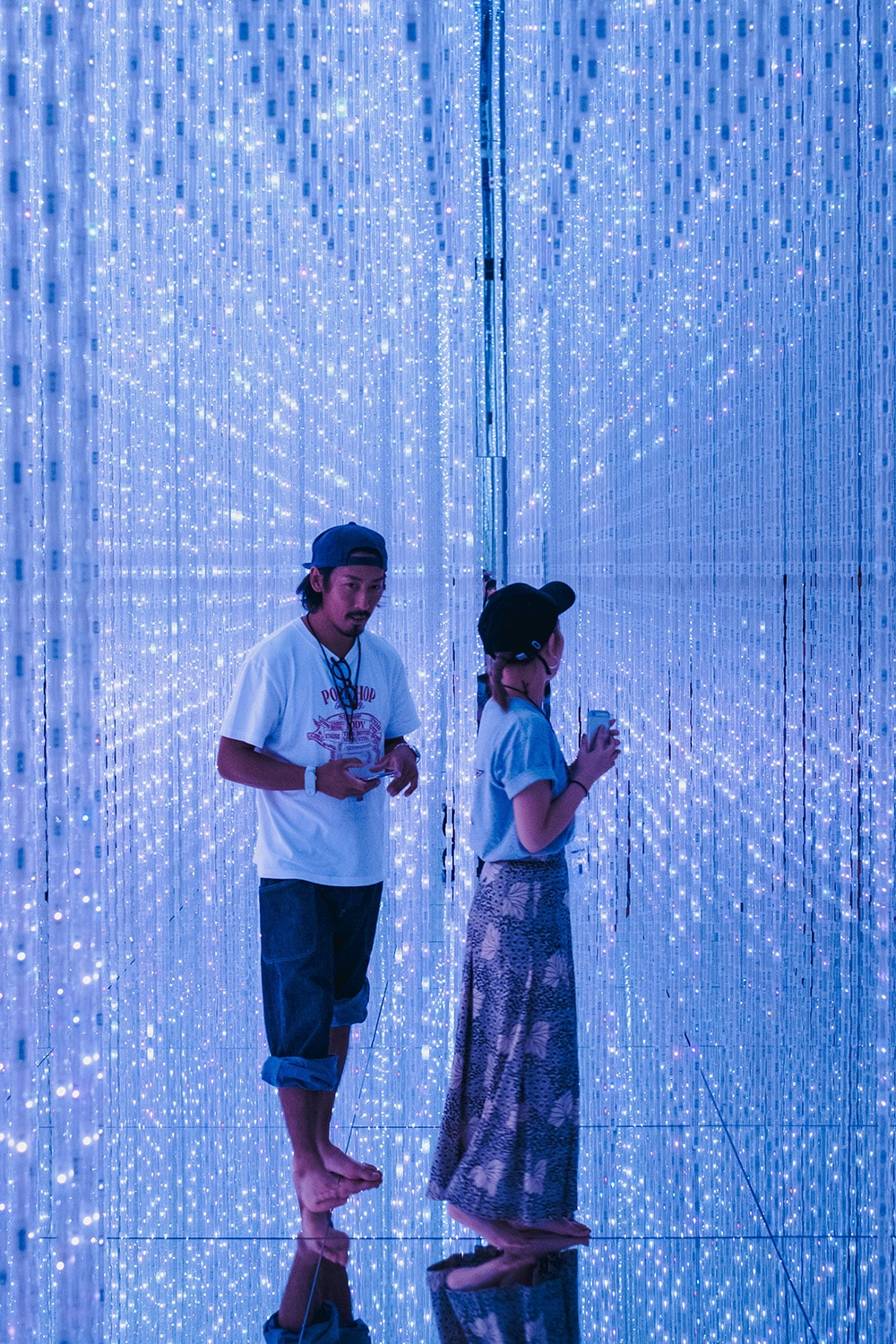 couple in an art exhibit
