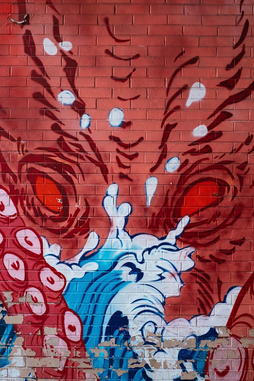 graffiti art close up