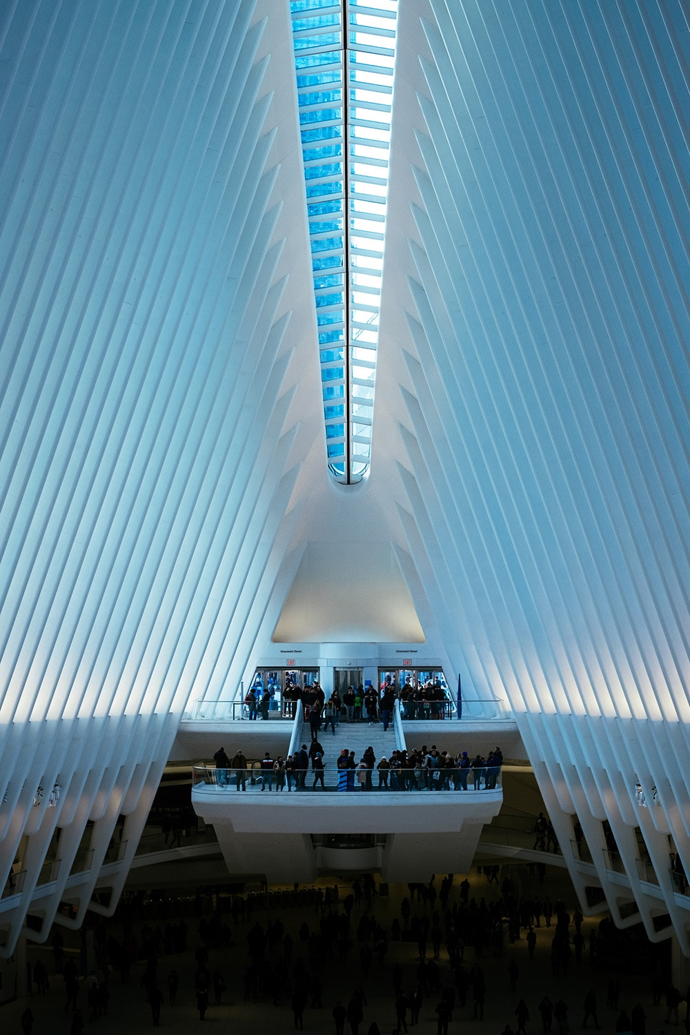 inside of The Oculus in New York City