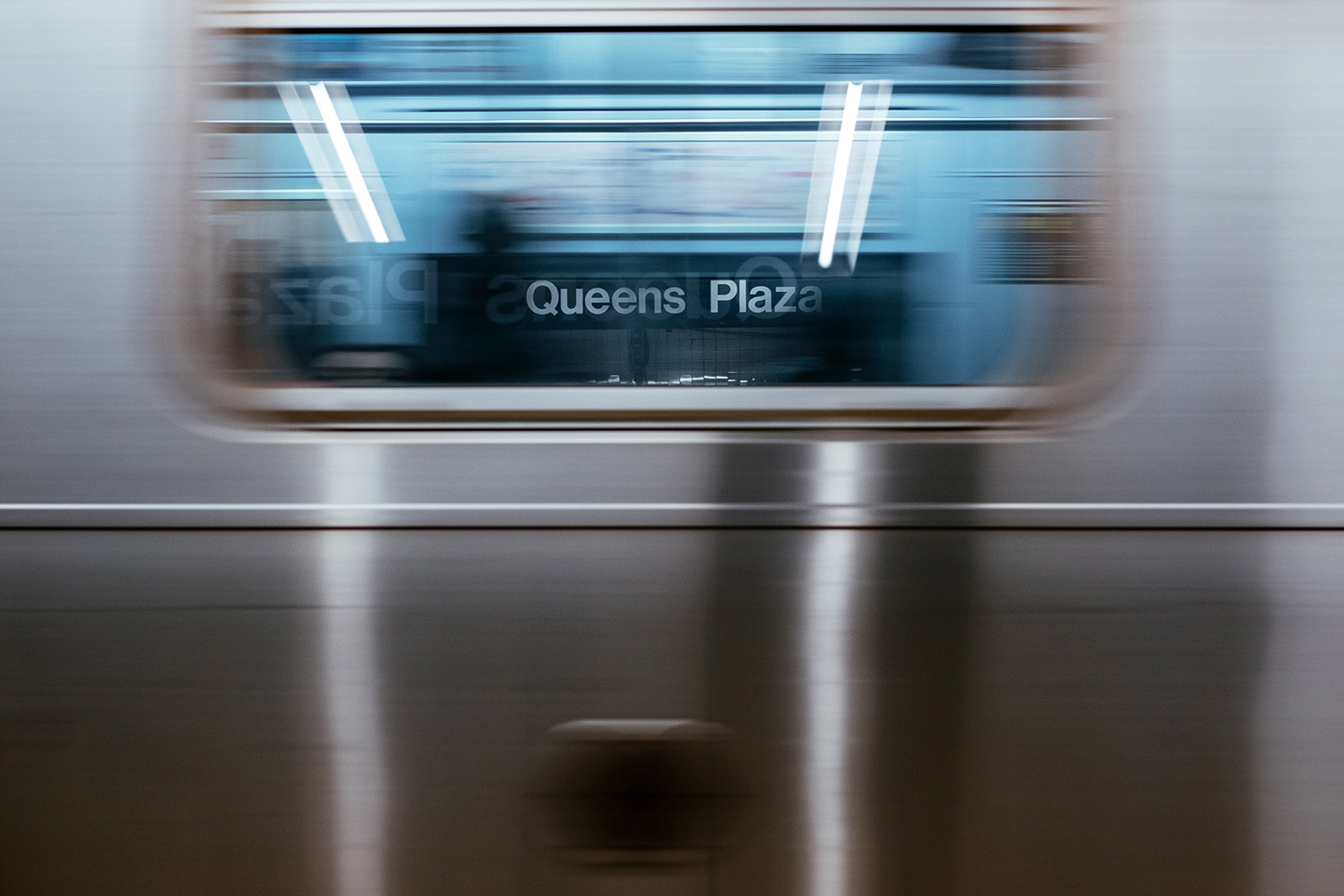 subway train passing