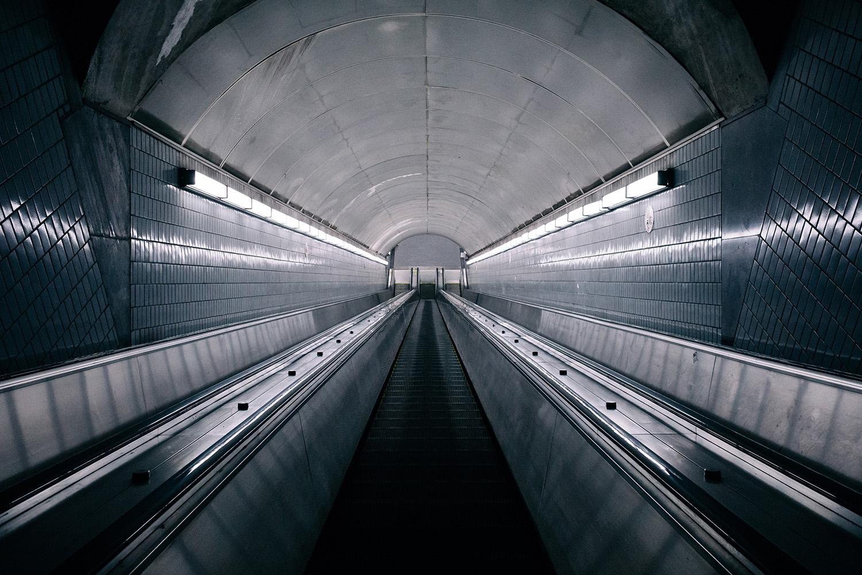 an escalator in Atlanta