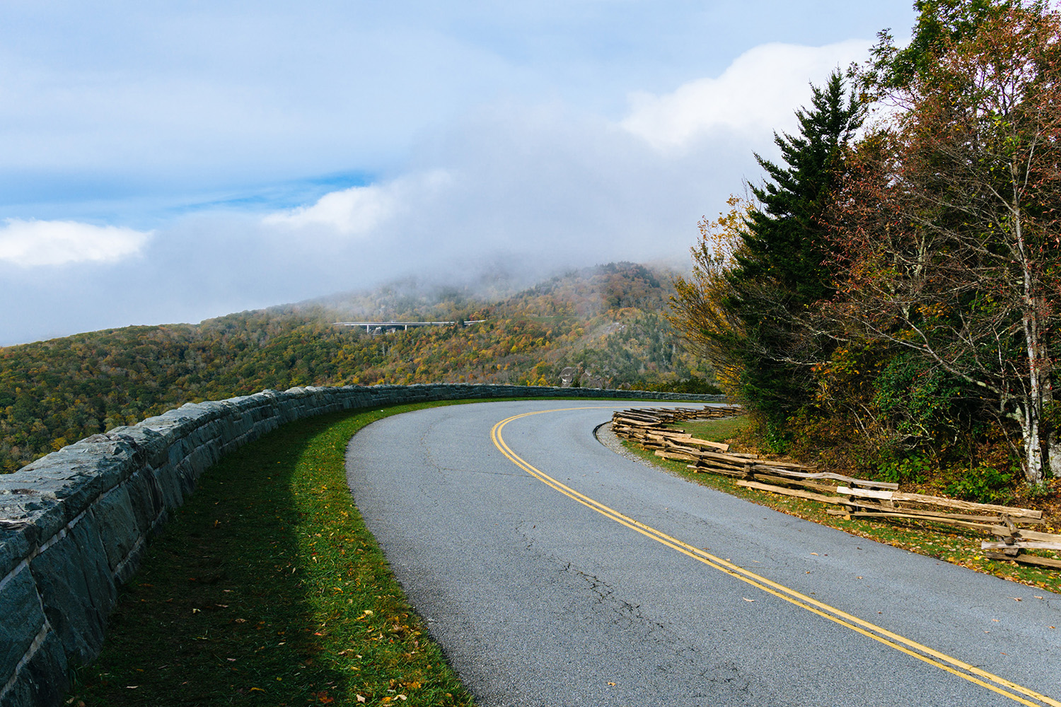 a road in the mountains
