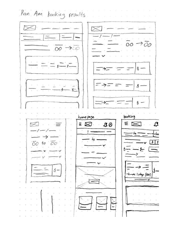 wireframe sketch