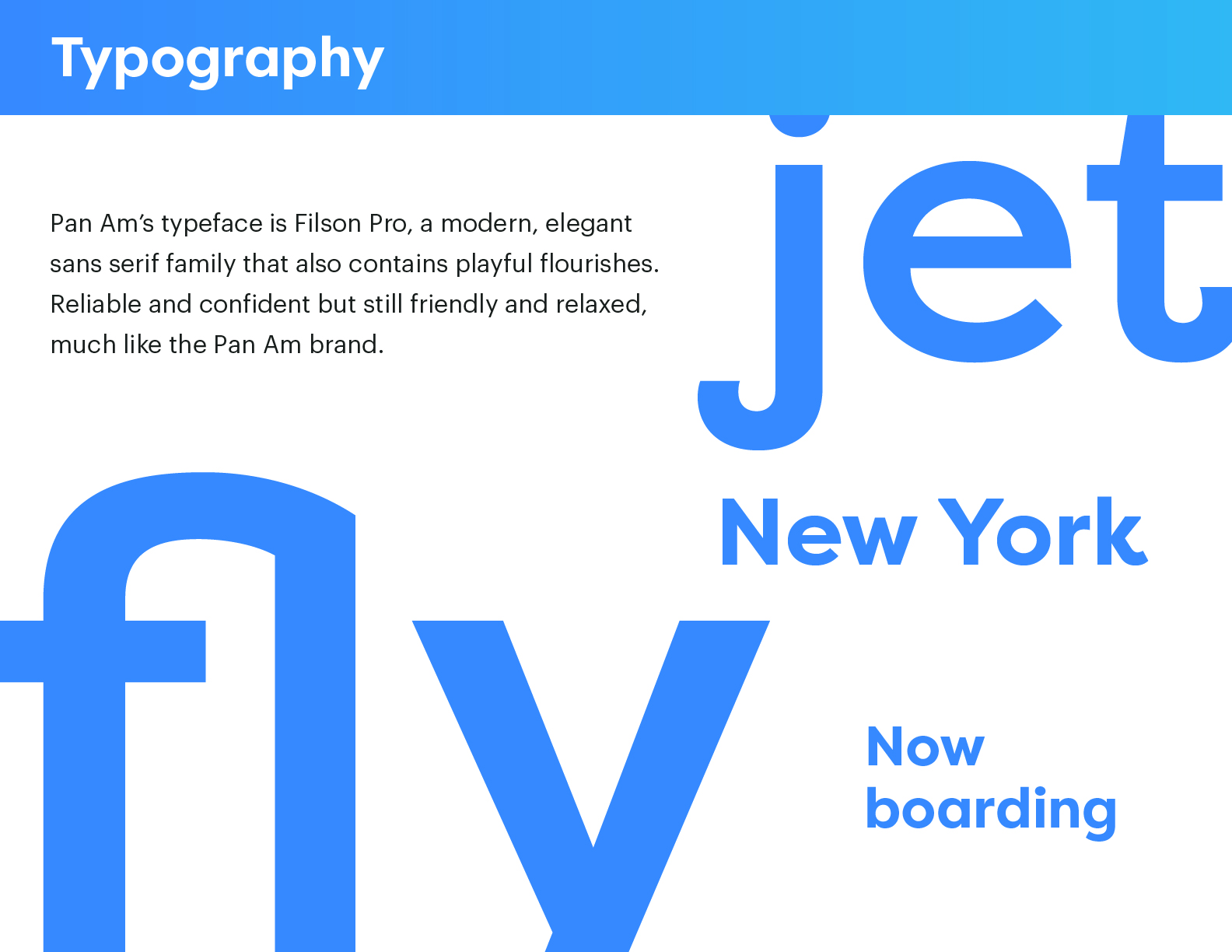 Pan Am typography