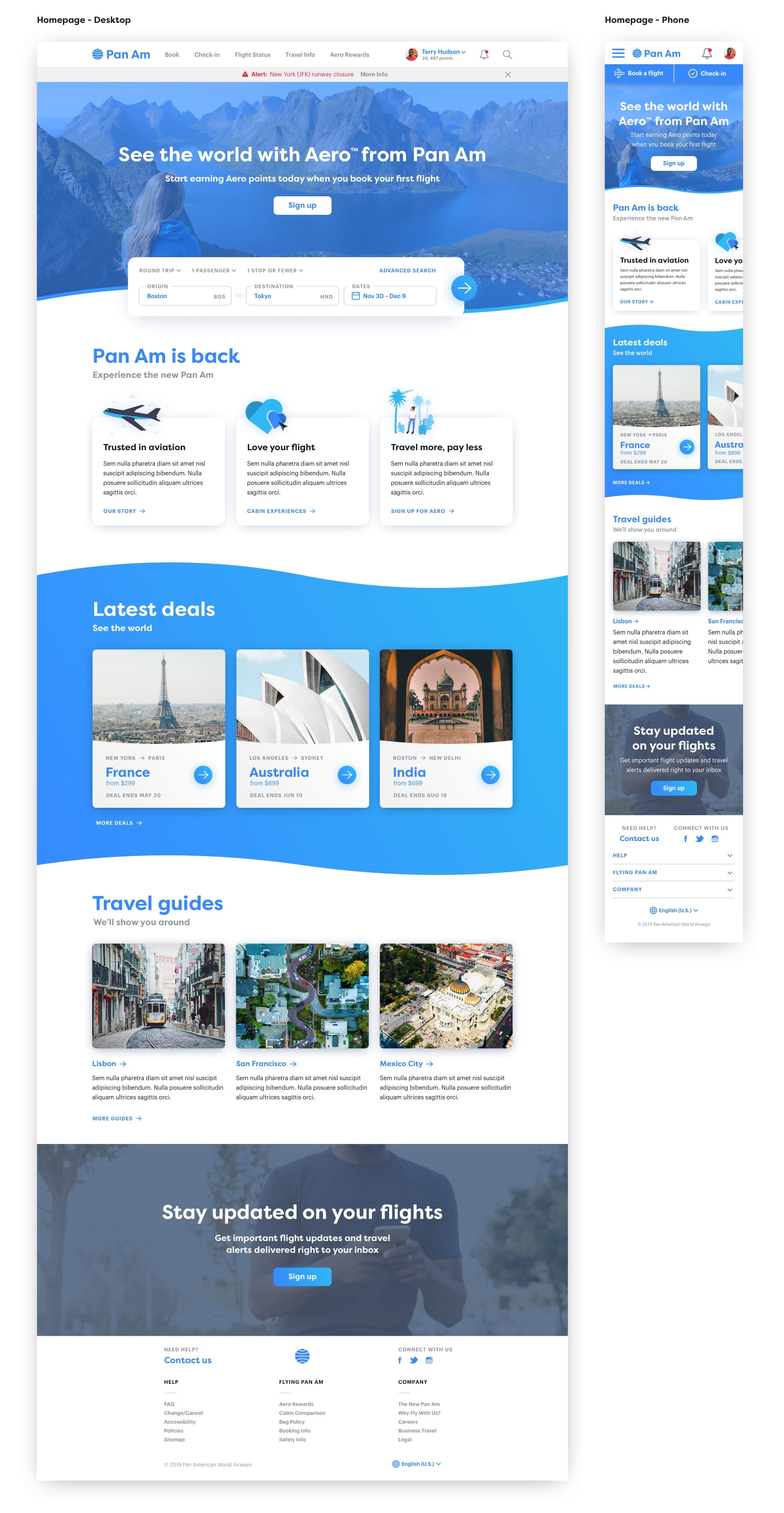 homepage design