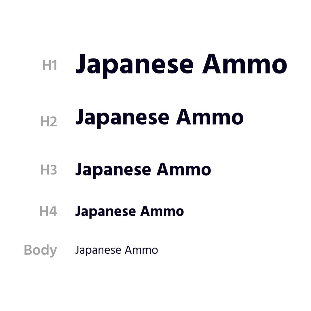 Typography styles