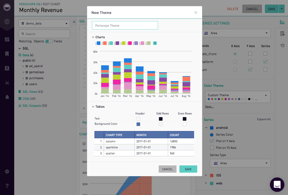 Color Themes Periscope Data Docs