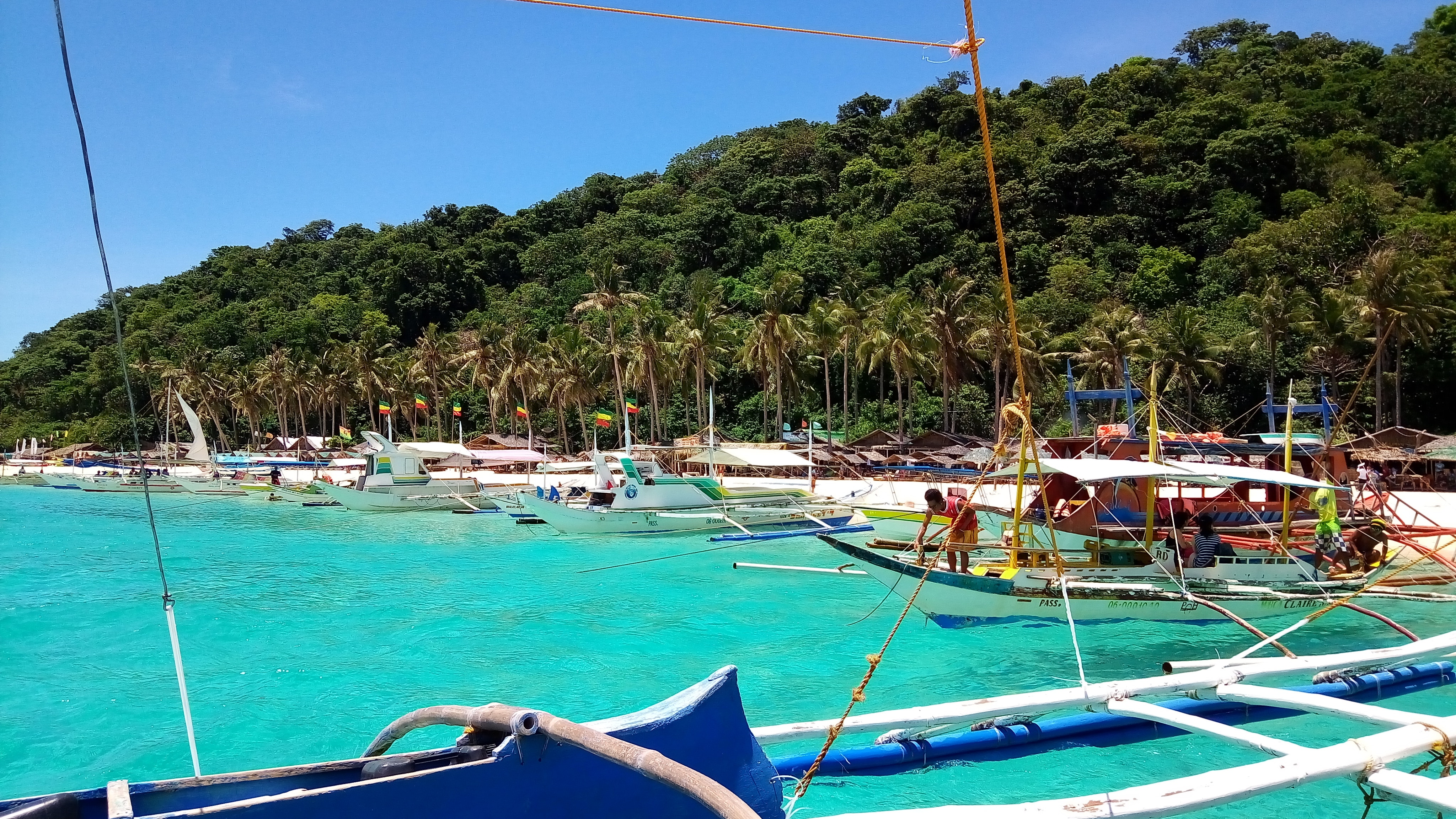 White Beach is located on the small island of Boracay in the Philippines. Renowned for its nightlife, silky sand beaches and shallow, crystal clear water, White Beach has won numerous magazine awards for its beauty and serene atmosphere.