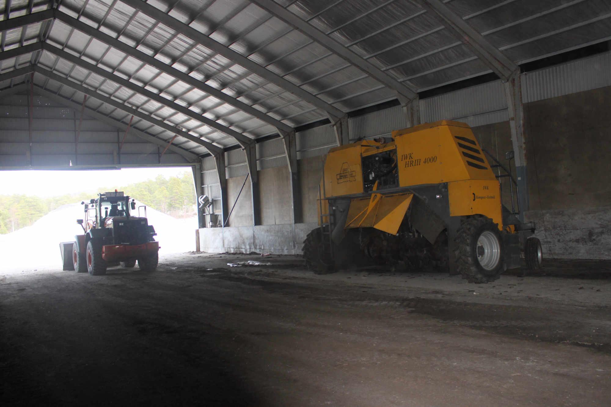 Komposteringshallen ved Vestnes Renovasjon