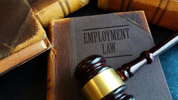 Non-Competes: The Employer Perspective gavel on leather bound book titled employement law