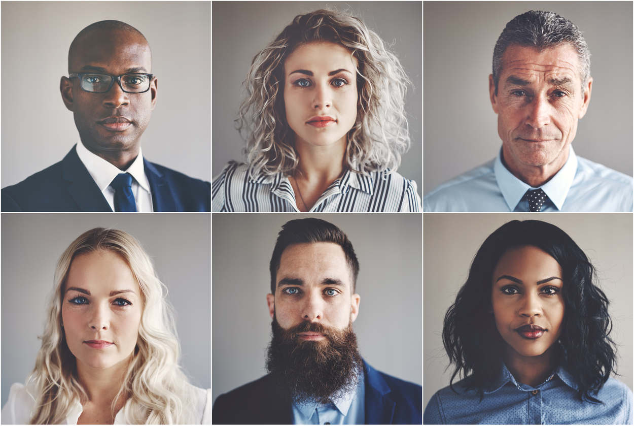How Diversity Can Improve Your Company Culture headshots of diverse working professionals
