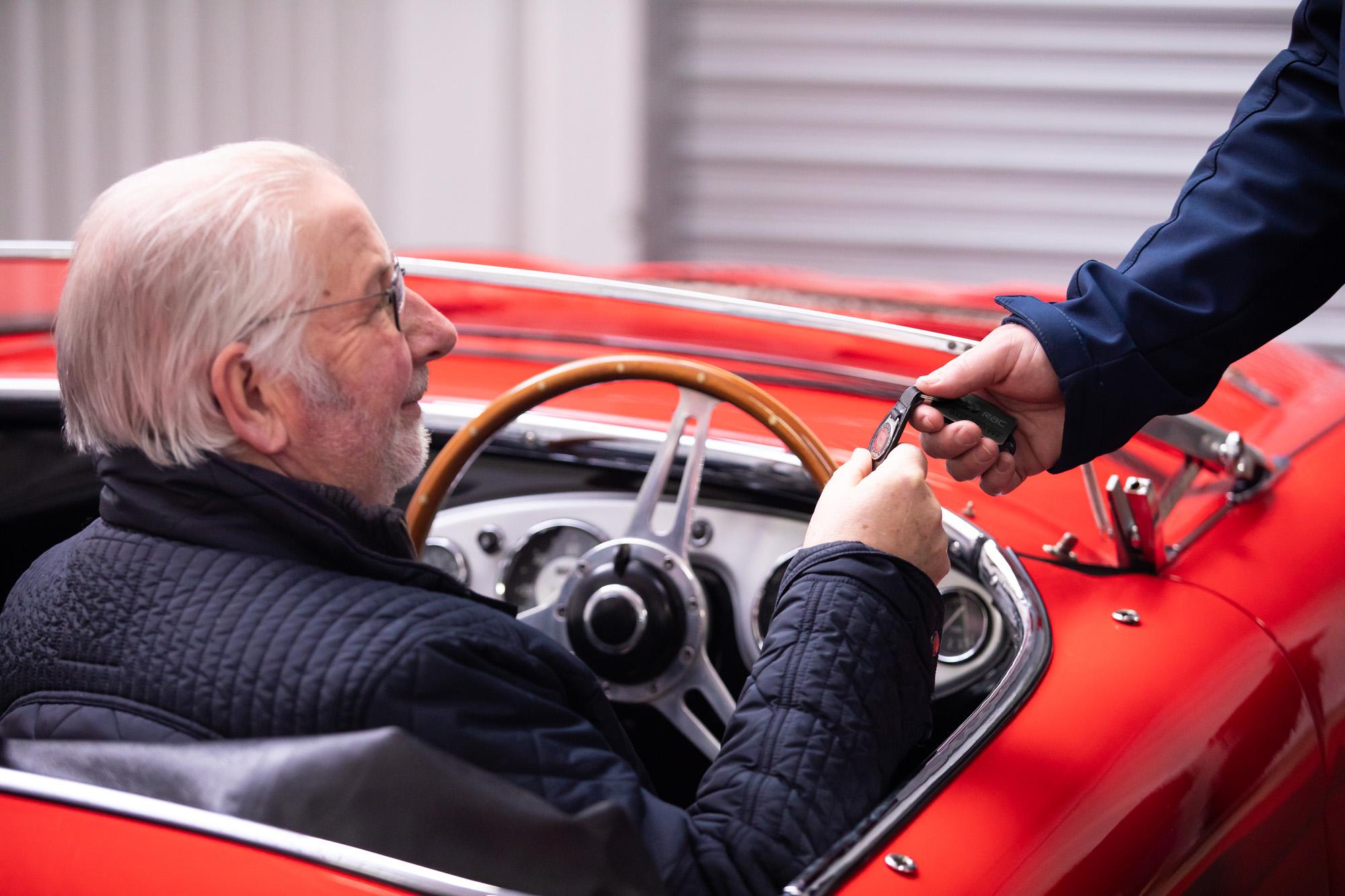 Photo of steering wheel