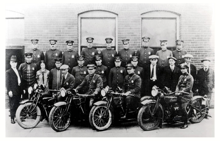 Photo of the Alhambra Police Department on October 18, 1924 ~ Courtesy of the Alhambra Chamber of Commerce