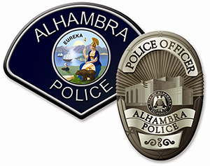 Photo of Alhambra Police Patch and Badge