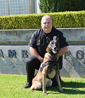 K-9 Handler and his police K-9