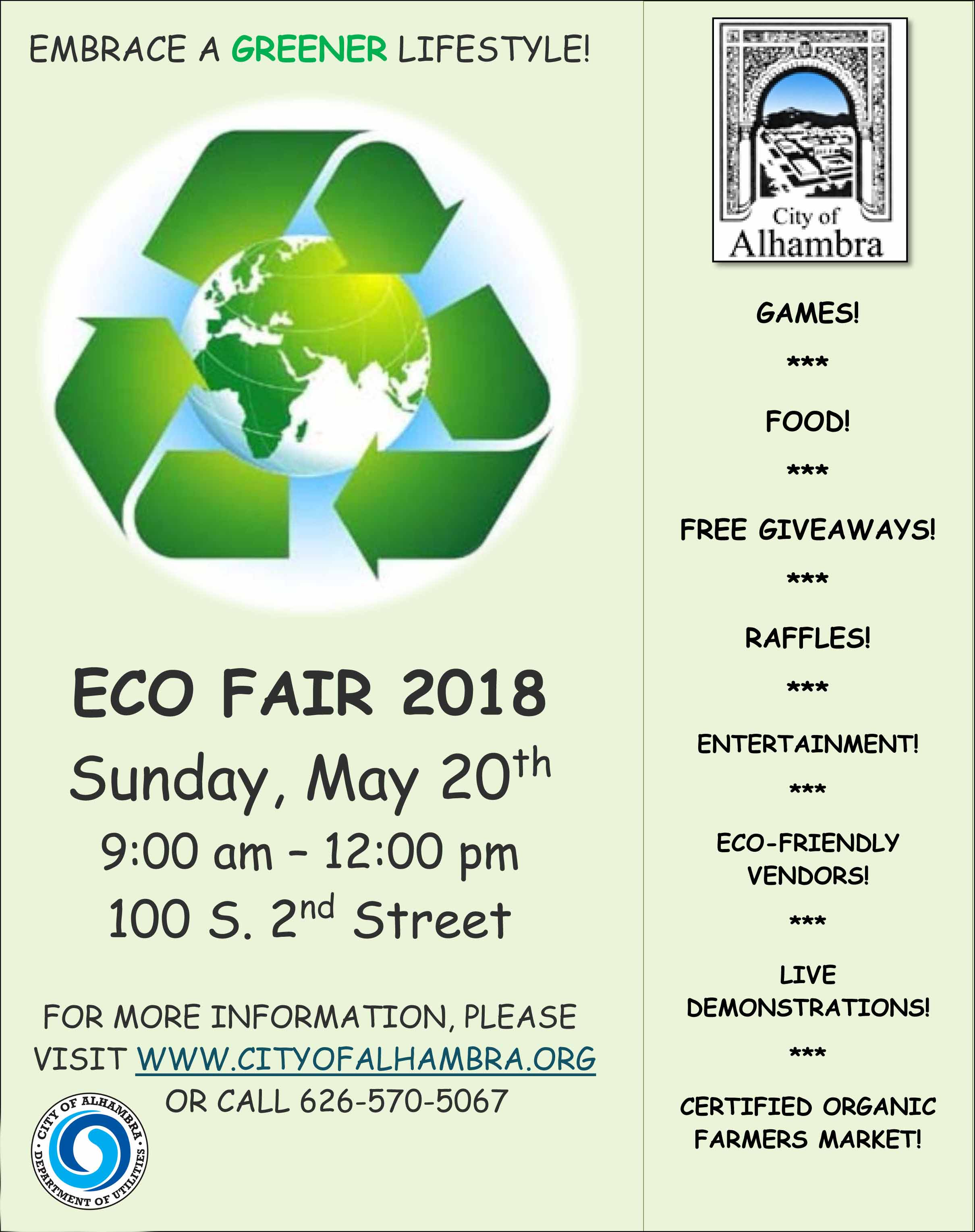 Eco Fair 2018, Sunday, May 10, 2018 flyer image