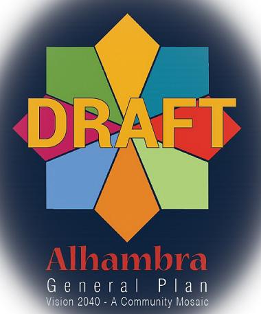 Draft Alhambra General Plan Vision 2040 A Community Mosaic logo