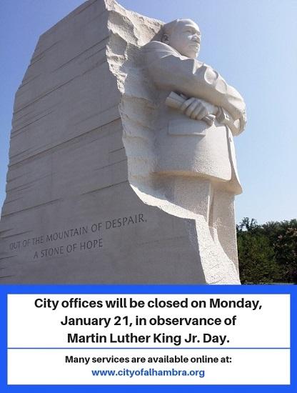 MLK Jr. Statue Image.