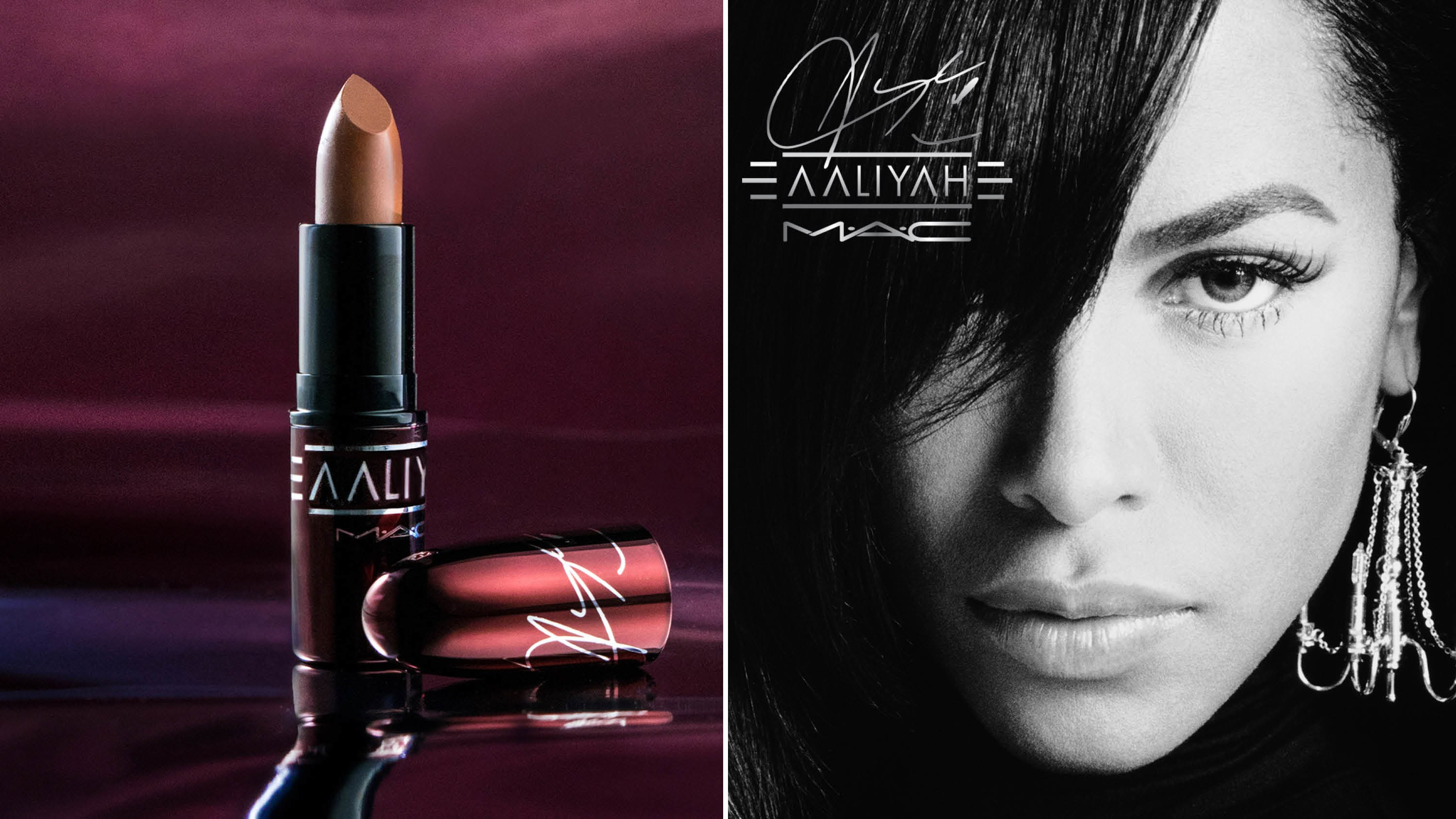 MAC x Aaliyah makeup collaboration
