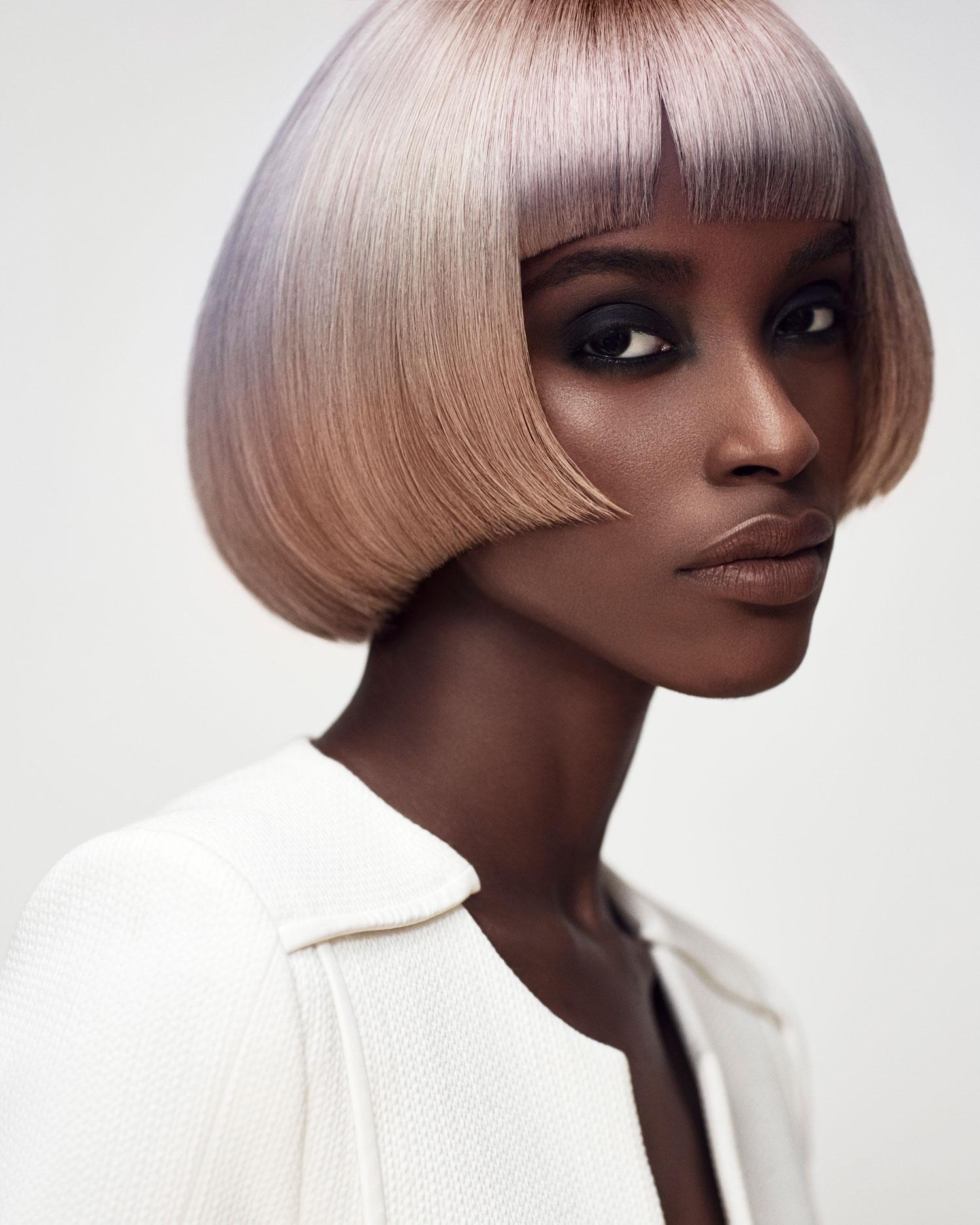 Michelle Thompson rose gold hair