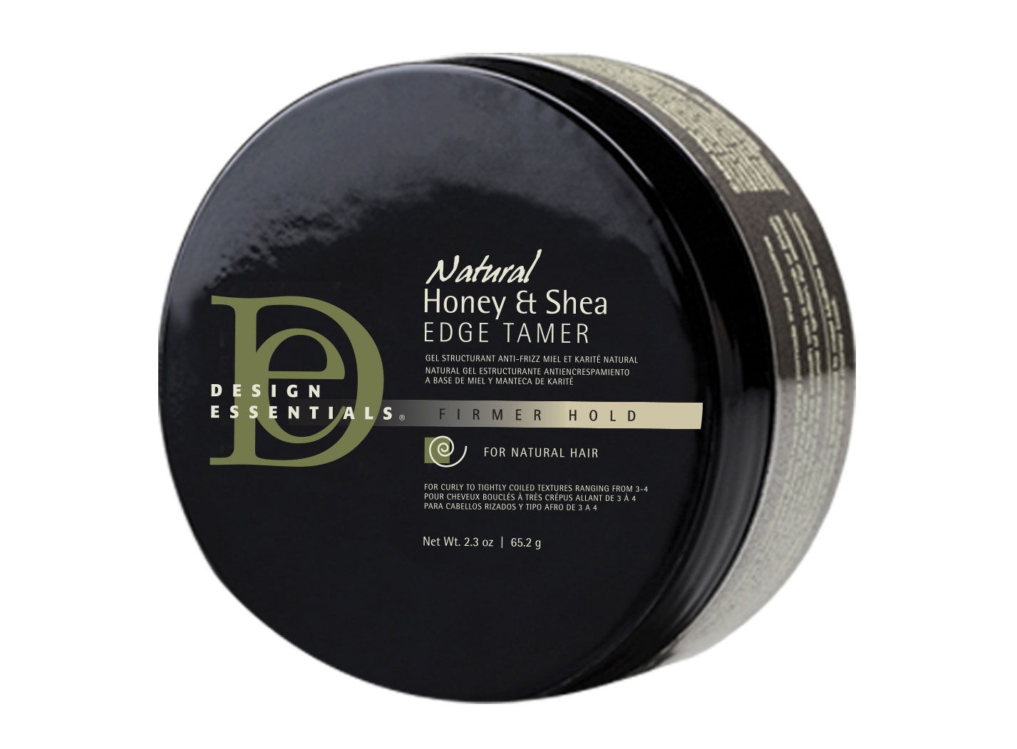 DESIGN ESSENTIALS Natural Honey & Shea Edge Tamer, £8.99