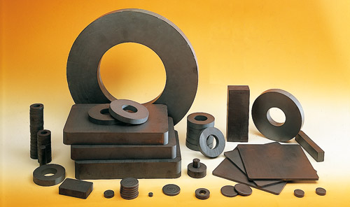 anneau, bloc et disque ferrite magnétique ou non-magnétique