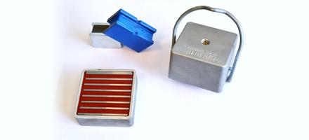 Bases magnétiques rectangulaires néodyme avec ou sans poignée