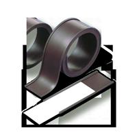 Porte étiquette magnétique en caoutchouc avec étiquette insérée