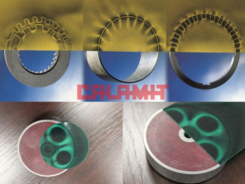 différent magnétismes révélés par la feuille magnétosensible