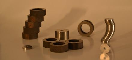 Anneaux et disques AlNiCo magnétique ou non-magnétique
