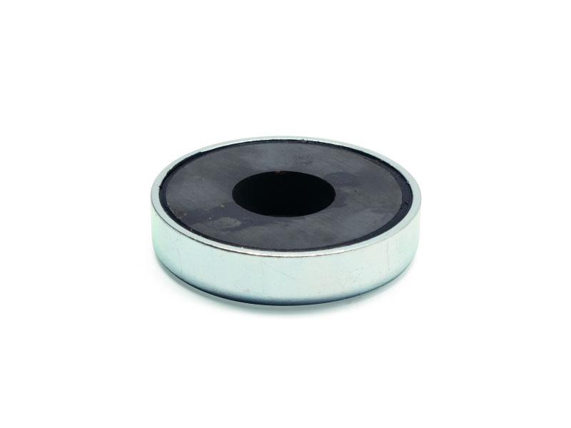 Base magnétique ferrite avec trou vue face aimanté
