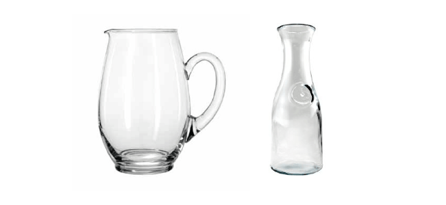 Pitchers & Carafes Rental