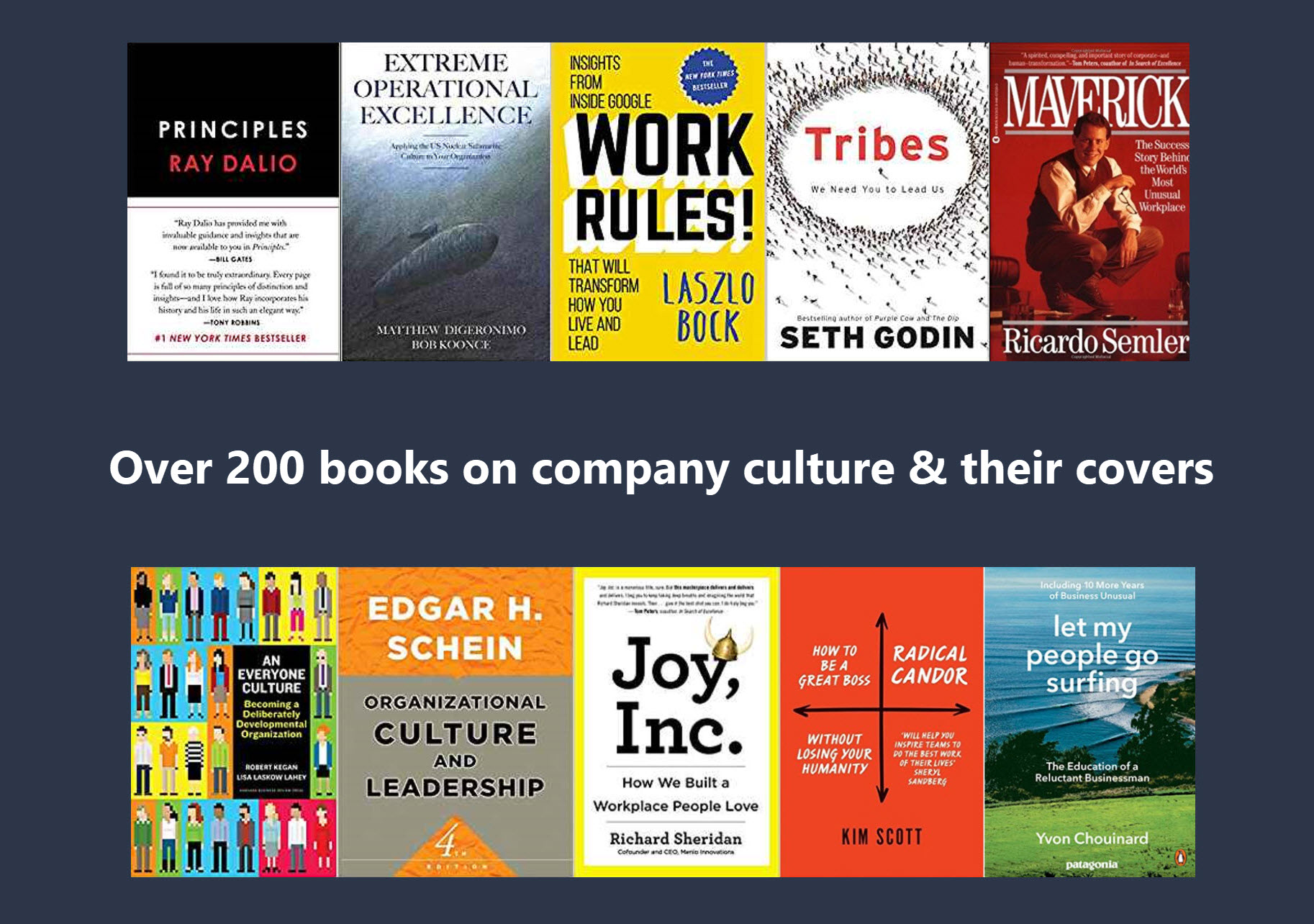 A collection of more than 200 books on company culture and their covers cool content malvernweather Gallery