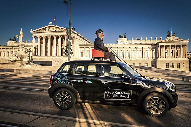 "Free registration ""DriveNow car sharing"" for tenants of THE FIZZ Vienna"