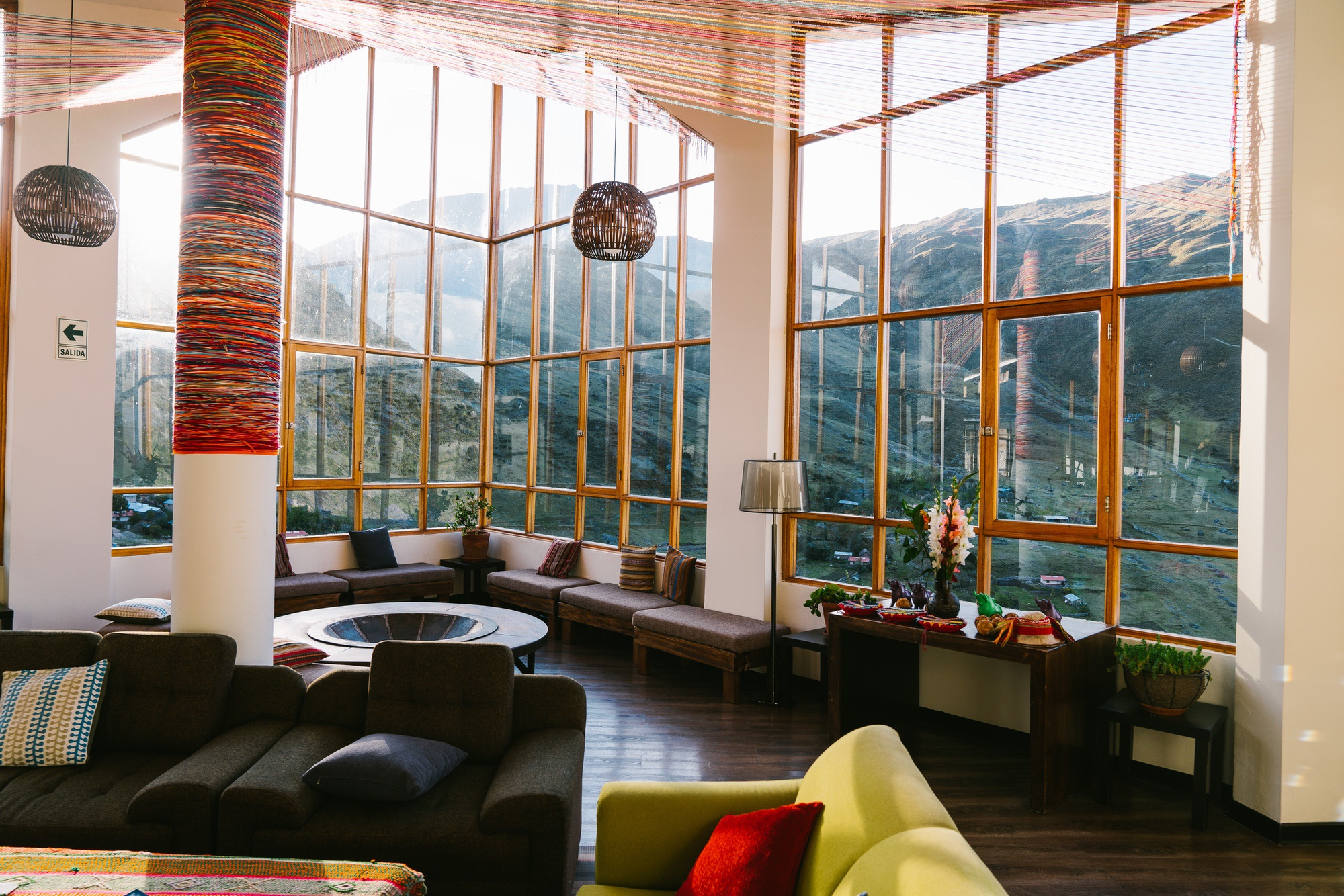 Interior of lodge in the sacred Valley