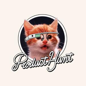 Product hunt logo of cat wearing google glass