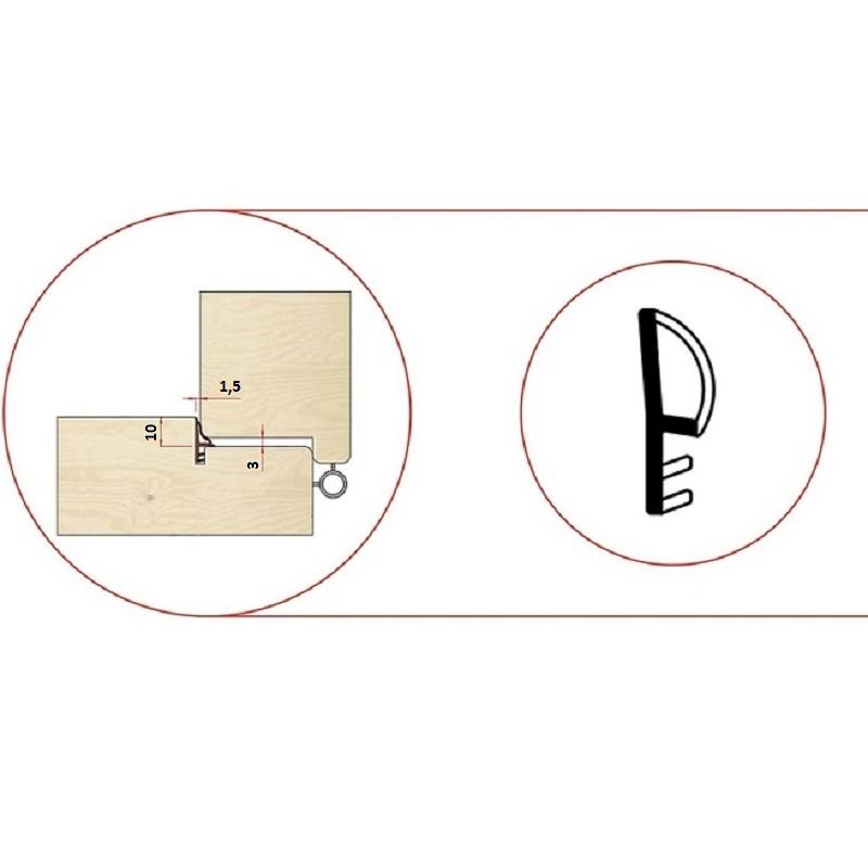 Garnitura pentru usi de interior -pt.falt10mm-art. 655