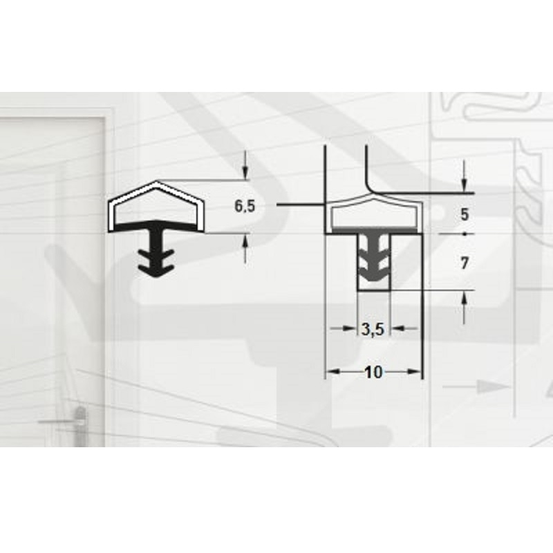 Garnitura pentru usi de interior-pt.falt10mm-art. M7292/10