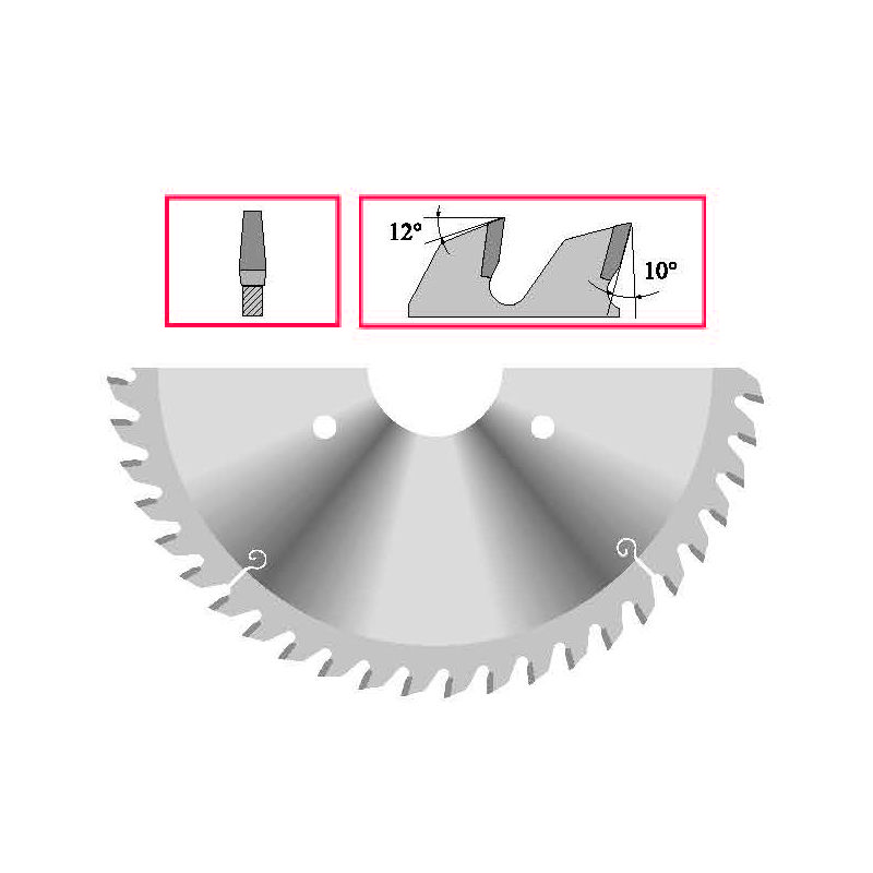 Panze circulare - incizor conic
