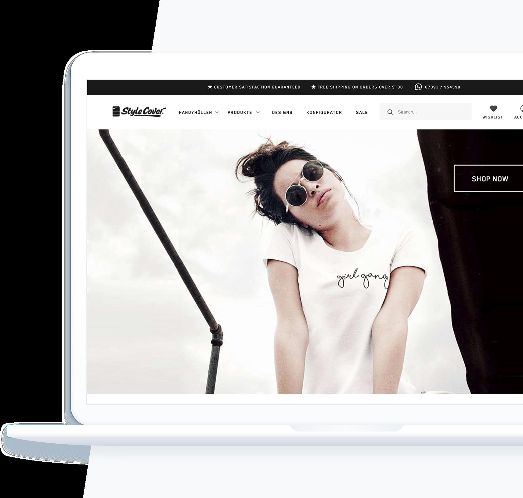 Stylecover Shopware Shop designed und umgesetzt von Proxation
