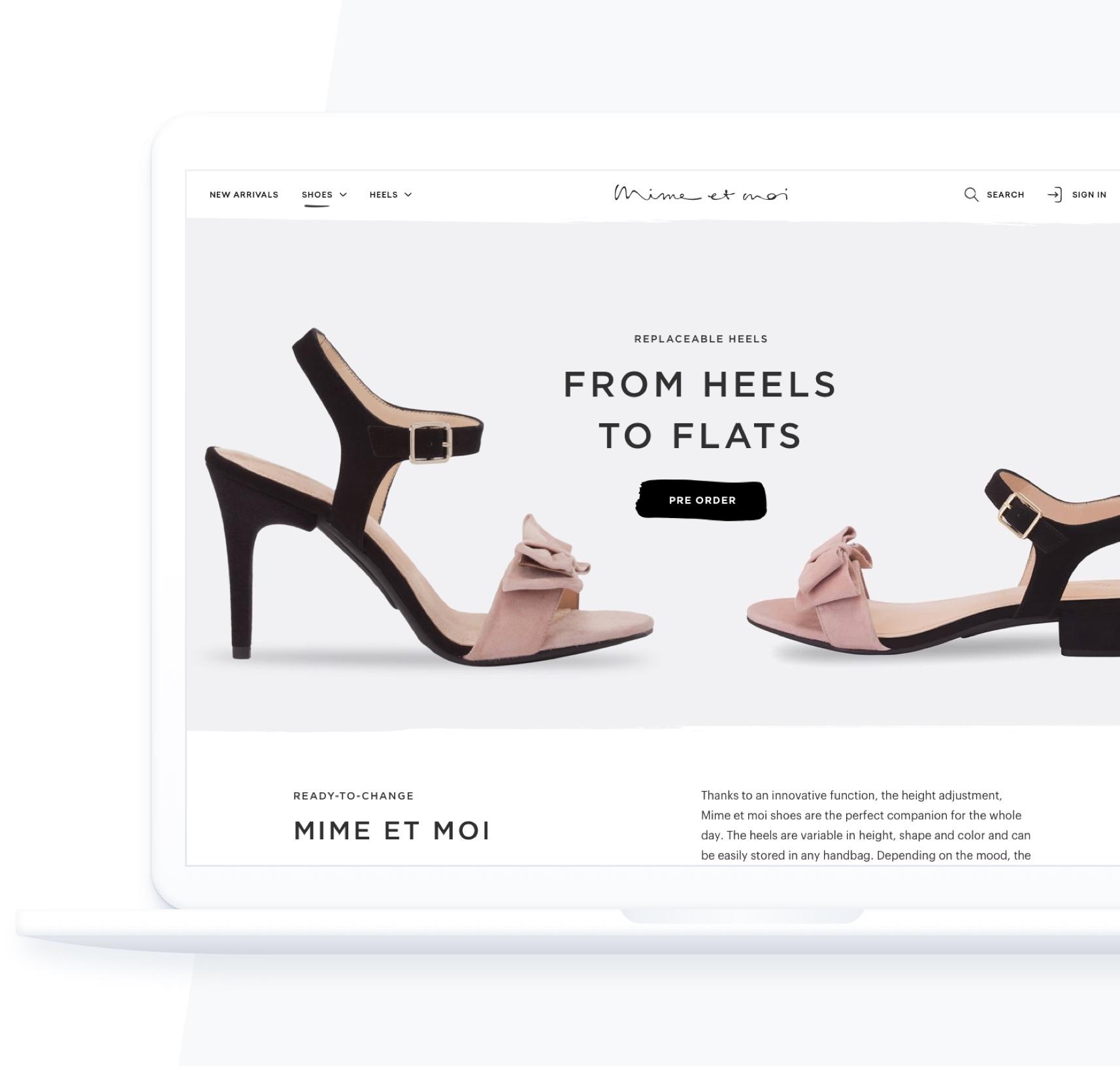 Fashion Online Shop Mimemoi von der Proxation wunderschön umgesetztz