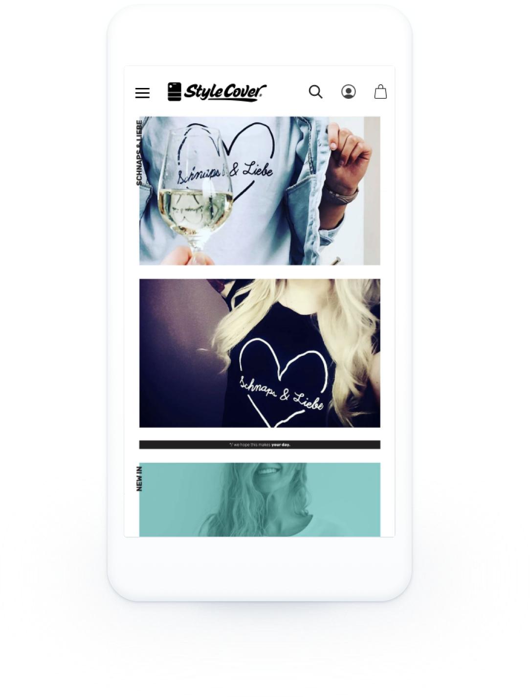 E-Commerce shopware Shop Stylecover mobile responsive