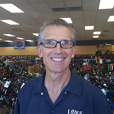 Terry Pittman - Owner and manager of Bike Shop!