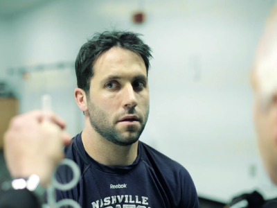 Carter Hutton, vision training systems, Nashville Predators, McDonald Eye Care