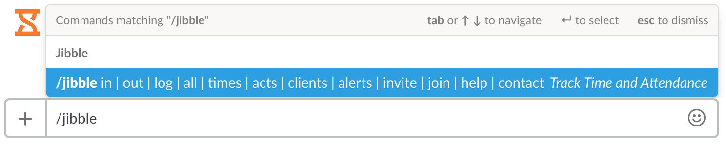 Screenshot of Jibble IN Slack