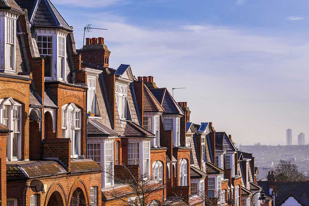 image of houses in a row
