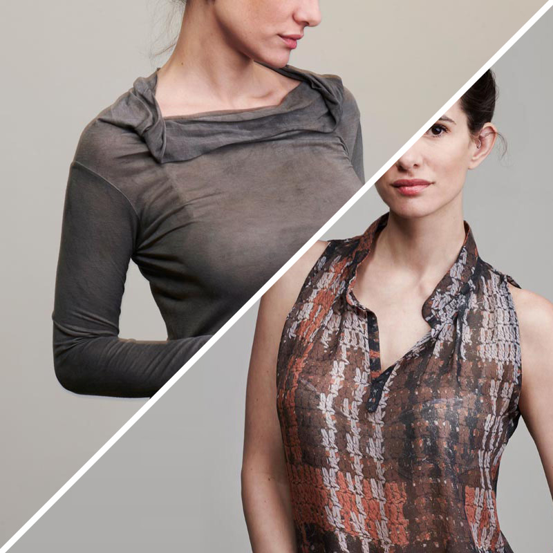 Models wearing a blouse