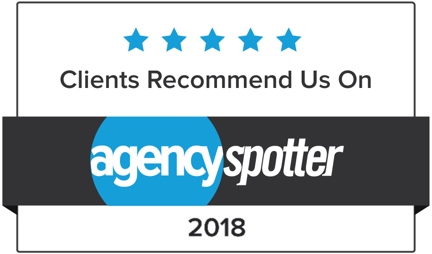 Our clients have rated us five starts on AgencySpotter